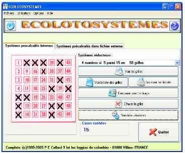 Capture d'écran ECOLOTOSYSTEMES