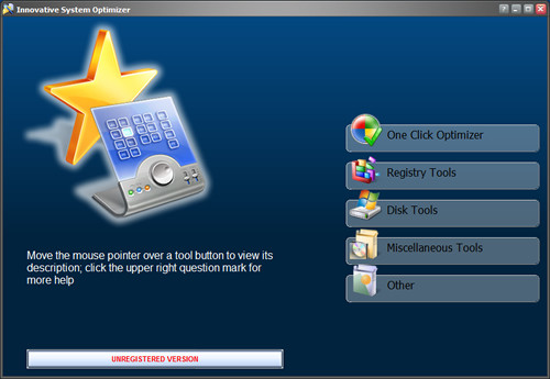 Capture d'écran Innovative System Optimizer