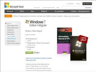 Capture d'écran Windows 7 Édition Intégrale