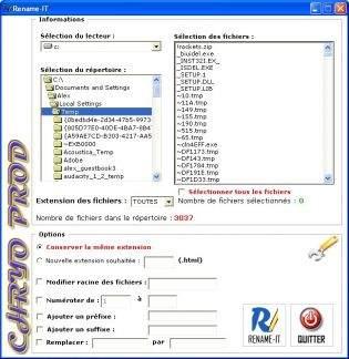 Capture d'écran Rename-IT