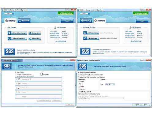 Capture d'écran SOS Online Backup