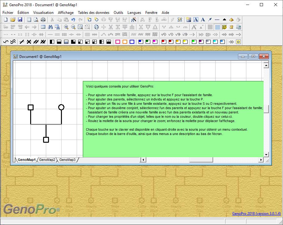 Capture d'écran GenoPro