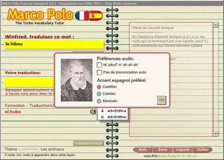 Capture d'écran Marco Polo Français-Espagnol
