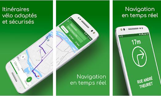Capture d'écran Geovelo Android