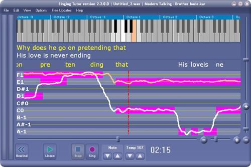 Capture d'écran Xitona Singing Tutor