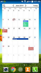 Capture d'écran Agenda Widgets