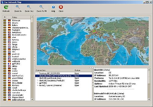 Capture d'écran Tor USB