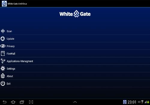 Capture d'écran White-Gate Antivirus Android