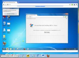 Capture d'écran Chrome Remote Desktop