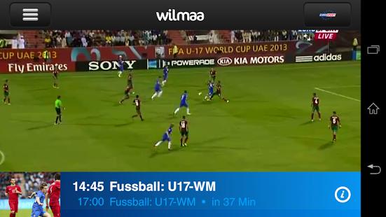 Capture d'écran Wilmaa TV