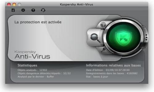 Capture d'écran Kaspersky Antivirus Mac