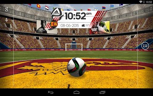 Capture d'écran Adidas World Football Live WP