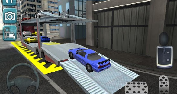 Capture d'écran Transports Parking Avancée