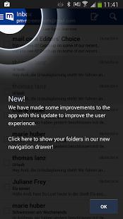 Capture d'écran Mail.com mail