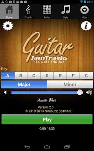 Capture d'écran Guitar Jam Tracks (Gammes)