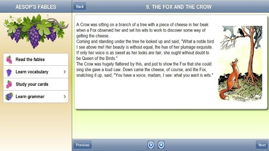 Capture d'écran Apprendre l'anglais: Fables