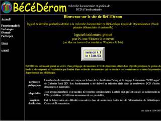 Capture d'écran BéCéDérom