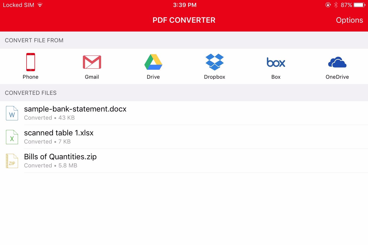 Capture d'écran PDF Converter Ultimate