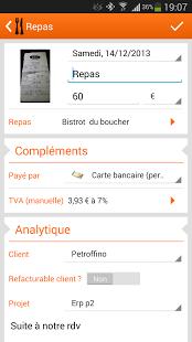 Capture d'écran N2F Note de frais pro