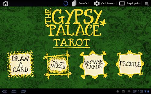 Capture d'écran Gypsy Palace Tarot