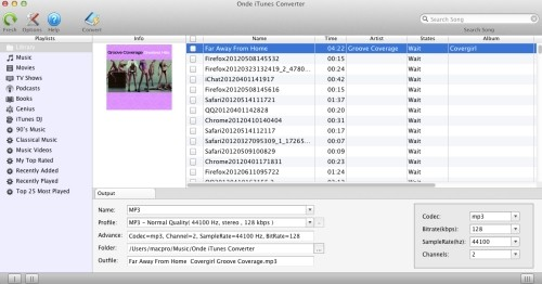 Capture d'écran Onde iTunes Converter