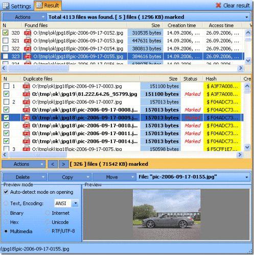Capture d'écran Duplicate File Detector