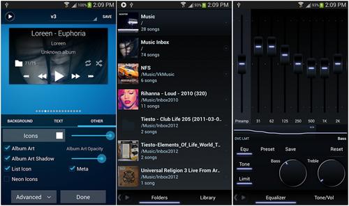 Capture d'écran Poweramp Android