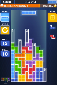 Capture d'écran Tetris Android