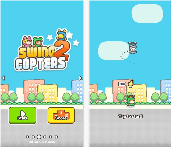 Capture d'écran Swing Copters 2 iOS