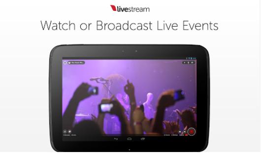 Capture d'écran Livestream iOS
