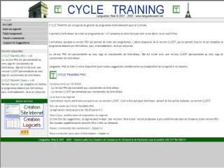 Capture d'écran Cycle Training Client