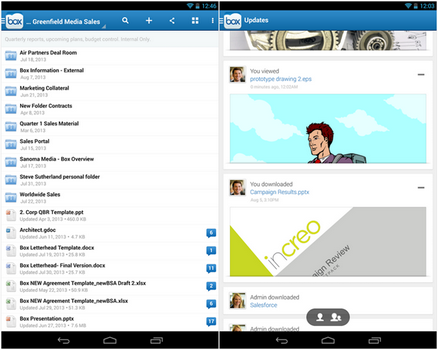 Capture d'écran Box Android
