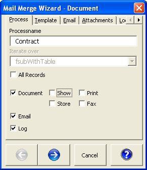 Capture d'écran Mail Merge for Microsoft Access 2007