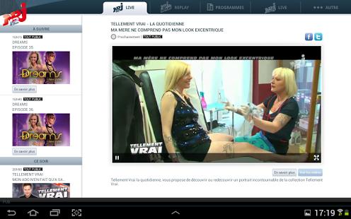 Capture d'écran NRJ 12 Tablette