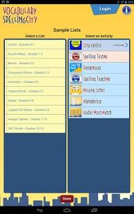 Capture d'écran SpellingCity