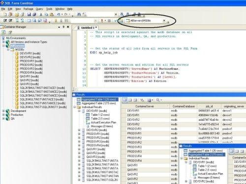 Capture d'écran SQL Farm Combine