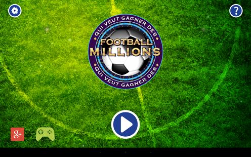 Capture d'écran Football Millions 2014