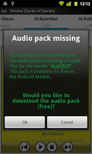 Capture d'écran Audio Pack (Mishary Alafasy)