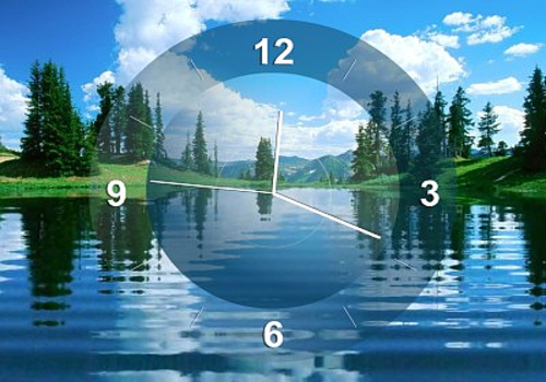 Aperçu de Lake Clock Screensaver