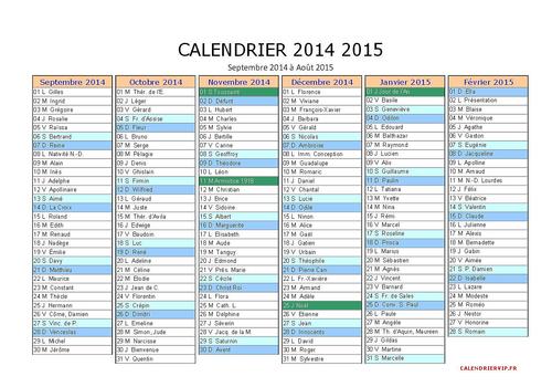 Imprimer calendrier vacances scolaires 2014 2015 pdf - Calendrier scolaire 2014 2015 ...