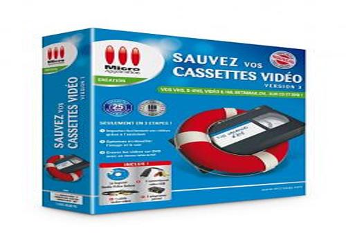 micro application logiciel sauvez vos cassette video