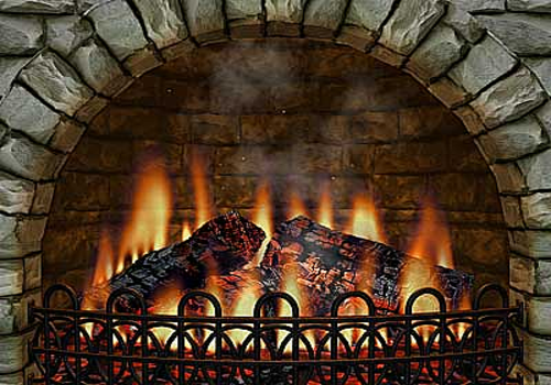 Aperçu de 3D Realistic Fireplace Screen Saver