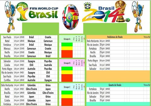 T l charger calendrier coupe du monde br sil 2014 - Coupe du monde de handball 2015 calendrier ...