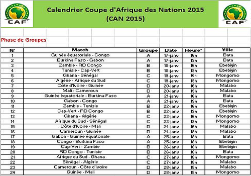 Foot can 2015 la coupe d 39 afrique des nations - Match en direct gratuit coupe d afrique ...