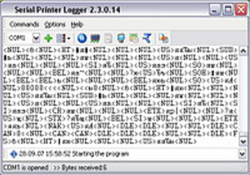 Aperçu de Serial Printer Logger