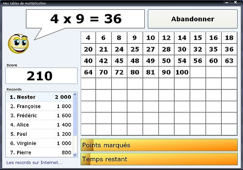 T l charger multiplication - Logiciel educatif fr math tables multiplication ...