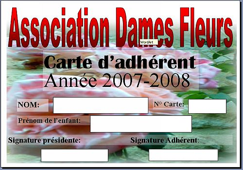 T l charger carte d 39 adh rant microsoft publisher 2007 - Association de recuperation meubles gratuit ...