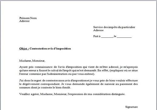 Exemple de lettre de procuration pour les impots for Changement d adresse impots