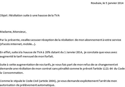 Mod 232 Le De Lettre R 233 Siliation Hausse Tva 2014 224 T 233 L 233 Charger