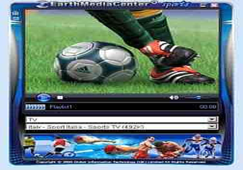 Aperçu de EarthMediaCenter online sports TV